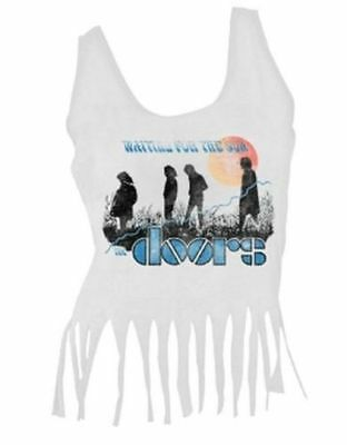 New: THE DOORS - Waiting for the Sun (FRINGE-CROP TOP) Concert Shirt