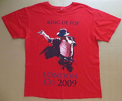 New: MICHAEL JACKSON London 2009 (The O2) Tour (Red) Womens Jr. Concert T-Shirt