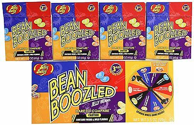 1 GIFT BOX spinner game 3.5 oz + 4 Bean Boozled jelly belly 1.6 oz