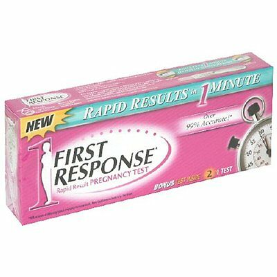 3 Pack - First Response Rapid Result Pregnancy Test 2 Each