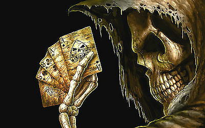 "3.25"" GRIM REAPER DEAD MANS HAND Sticker / Decal Computer Angel of Death"