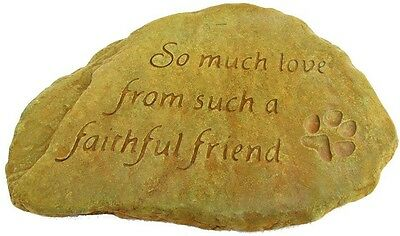 Faithfull Friend Decorative Stone Weathered Bronze Outdoor Garden Lawn Decor New