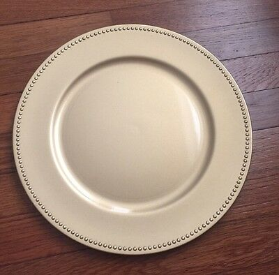 """Gold 13"""" Beaded CHARGER PLATES Wedding Party Catering Table Decorations"""