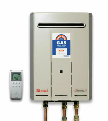Rinnai Infinity 26 Touch Wireless Controlled Hot Water - 50°C Natural Gas - New