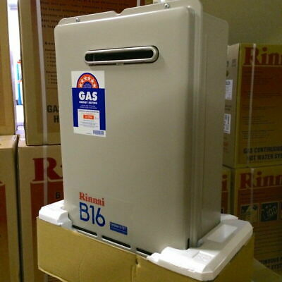 Rinnai B16 Builders Series Continuous Flow Hot Water - 60°C - LPG - New
