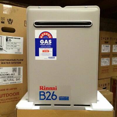 Rinnai B26 Builders Series Continuous Flow Hot Water- 60°C - Natural Gas - New