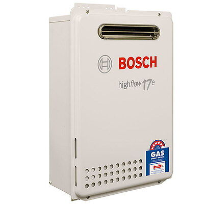 Bosch 17e Highflow Hot Water with Antifrost - 50°C- Natural Gas - New