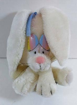 "7"" Vintage White GIGI Bunny RABBIT Applause 1982 Plush Stuffed Toy B239"