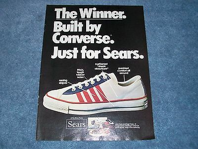 "1974 Converse Shoes for Sears Print Ad ""The Winner. Built by Converse."""