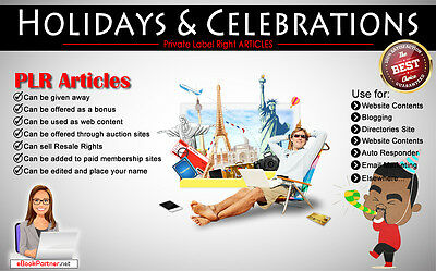 300+ PLR Articles on Holidays and Celebrations Niche Private Label Rights