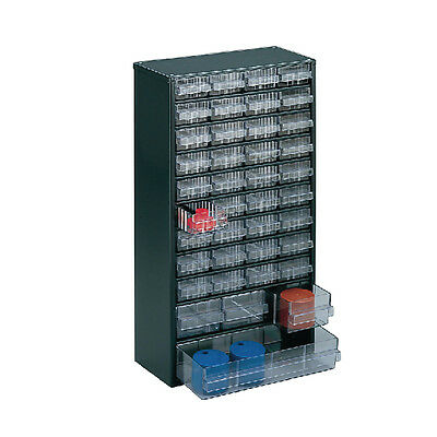 Clear 40 Drawer System Dark Grey Storage Cabinet 324171