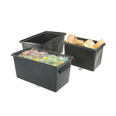 Recycled Container Truck Poly Straight Sided Black 329093
