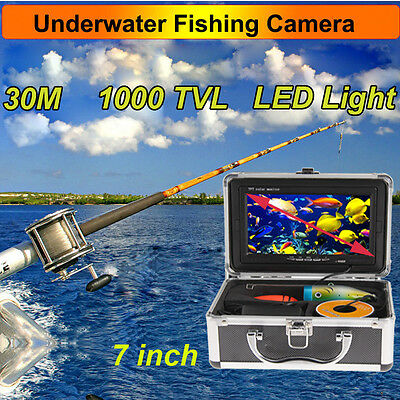 """Professional Fish Finder Underwater Video Camera 7"""" Color TFT HD Monitor & Cable"""
