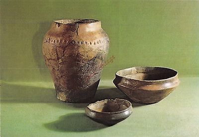 Alderney CI Postcard Iron Age Pottery From Les Huguettes  007