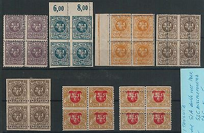 56205  -  LITHUANIA  -  POSTAL HISTORY: VERY NICE SET of  STAMPS with ERRORS