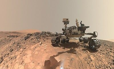 Extra Large NASA Mars Photo-Curiosity Mars Rover Takes a Selfie - SUPER PHOTO