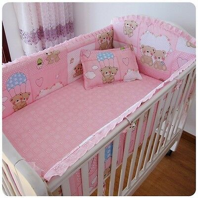 Baby Girl Bedding Crib Cot Bumpers Quilt Sheet Set- Lovely Bear Design Brand New