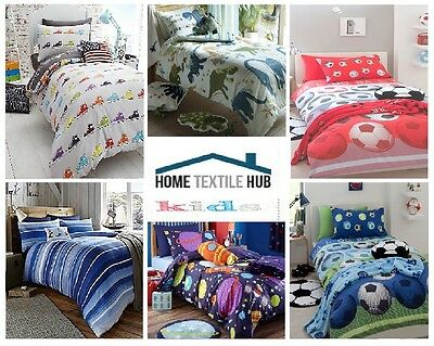 Catherine Lansfield Kids/Boys Single Bed Size Cotton Rich Quilt/Duvet Cover Set!