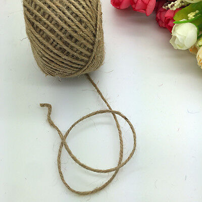 NEW Multirole Rustic Natural Twisted Burlap Jute Cord For Wedding Gift Wrap #011
