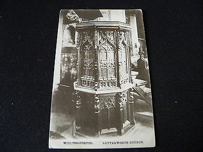 Leicestershire Postcard Lutterworth Church Pulpit