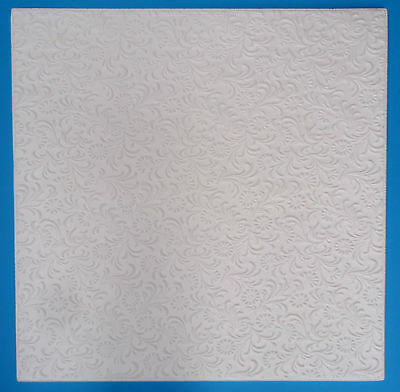 Polystyrene Ceiling Tiles  - 50cm x 50cm  - 10mm Thickness - Pattern 'Flora'