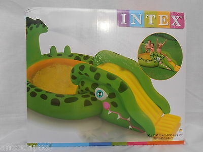 Intex Inflatable Gator Water Play Centre & Paddling Pool.  Great summer fun!