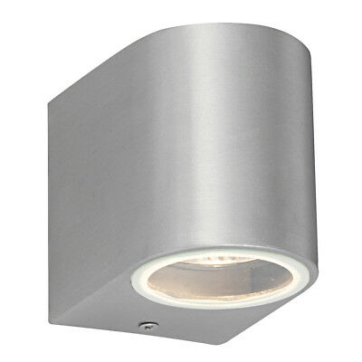 Saxby Endon Doron 35W Single Brushed Aluminium IP44 Outdoor Garden Wall Light