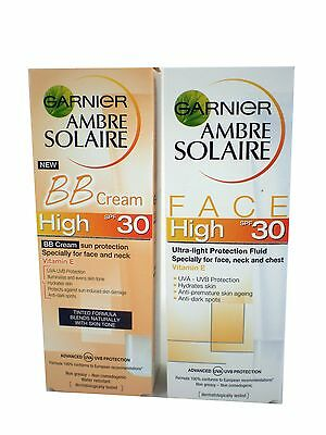 Garnier Ambre Solaire Sun Protection FACE 50ml SPF30 High choose fluid/ BB cream