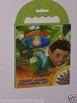 BBC CBeebies Tree Fu Tom Carry Along Colouring Set & 5 Crayons