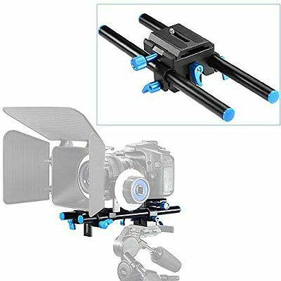 Neewer Universal Aluminum 15mm Rail Rod Support System High Riser DSLR Camera Mo