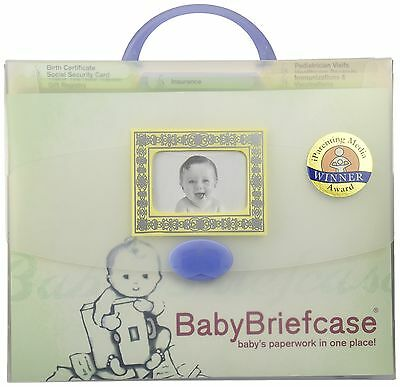 Baby Briefcase Baby Paperwork Organizer Mint/Periwinkle New