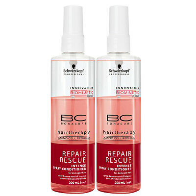(€24,98/L) Schwarzkopf BC Repair Rescue Intense Spray Conditioner (DUO) 400 ml