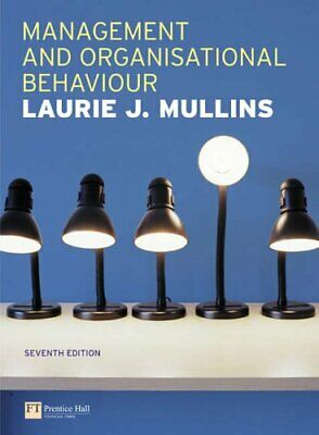 Management and Organisational Behaviour by Mullins, Laurie Paperback Book The