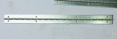 """PIANO HINGE PREDRILLED  18"""" long OPEN 1.5 """" wide More Available"""