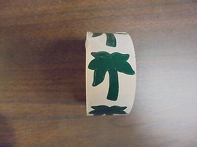 (USED) Roll of GREEN Palm Tree Tanning Stickers