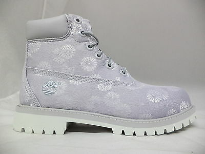 "Grade School Timberland 6"" Classic Boots Floral-A1759"