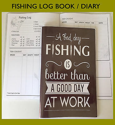 A5 Personalised Fishing Diary// Fishing Journal D Anglers Log Book /& Diary