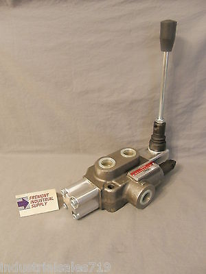 Hydraulic directional control valve 1 spool motor spool detented 12 GPM