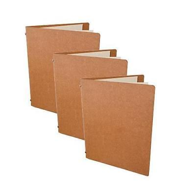 10x Deluxe Tuscan Leather Menu Natural A5 w 4 Pockets Restaurant Cafe Menus NEW