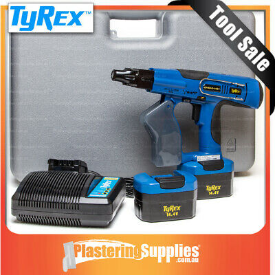 Tyrex Plasterboard Screw Gun Kit  Cordless Auto-Feed 25-50mm 14.4v Screwgun D404