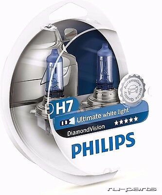 PHILIPS H7 DIAMOND Vision 55W 12V PX26d 12972DVS2 2 bulbs