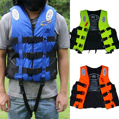 Adult Buoyancy Sailing Kayak Boating Water-proof Life Jacket Vest With Whistle