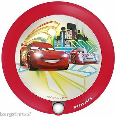 Philips Disney Night Light Cars Children's Sensor Night Light LED NEW