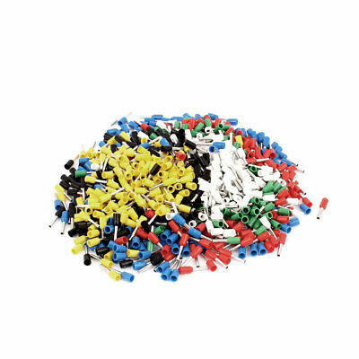 900 Pcs Wire Crimp Connector Insulated Ferrule Cord Terminal AWG18 Multi-color