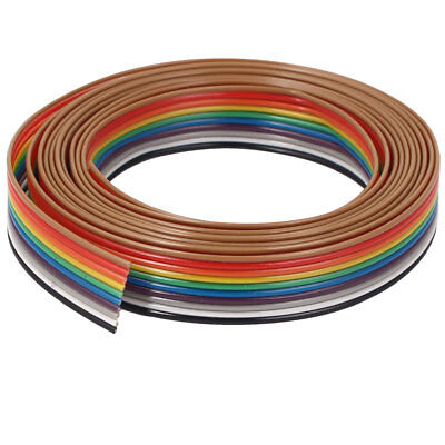1.9 Meter 6.2ft 10 Way 10 pin Flat Rainbow Ribbon IDC Cable Wire Rainbow Cable