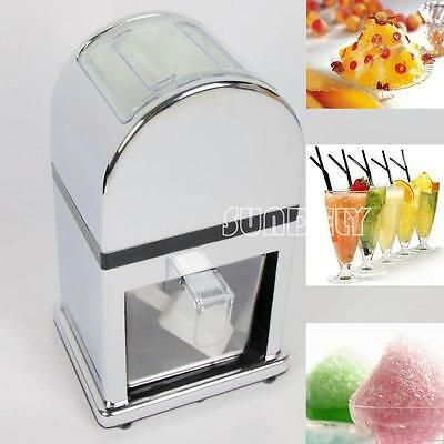 Manual Rotary Ice Crusher Machine Crush Grind Chop Frozen Cocktail Party new
