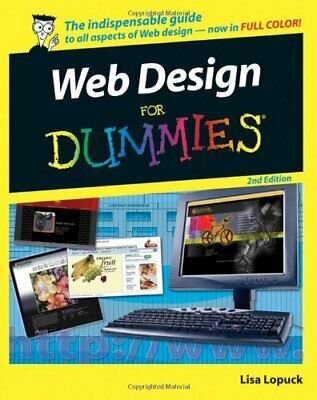 Web Design For Dummies by Lopuck, Lisa Paperback Book The Cheap Fast Free Post