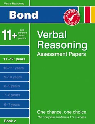 Bond Assessment Papers in Verbal Reasoning 11-12+ y... by Jane Bayliss Paperback