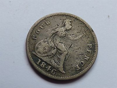 Victoria Fourpence/ Groat 1846 Silver (myrefn9068)
