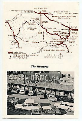 """Vintage """"Husteads' Wall Drug Store"""" Promo Flyer: """"A FORTUNE IN ICE WATER"""""""